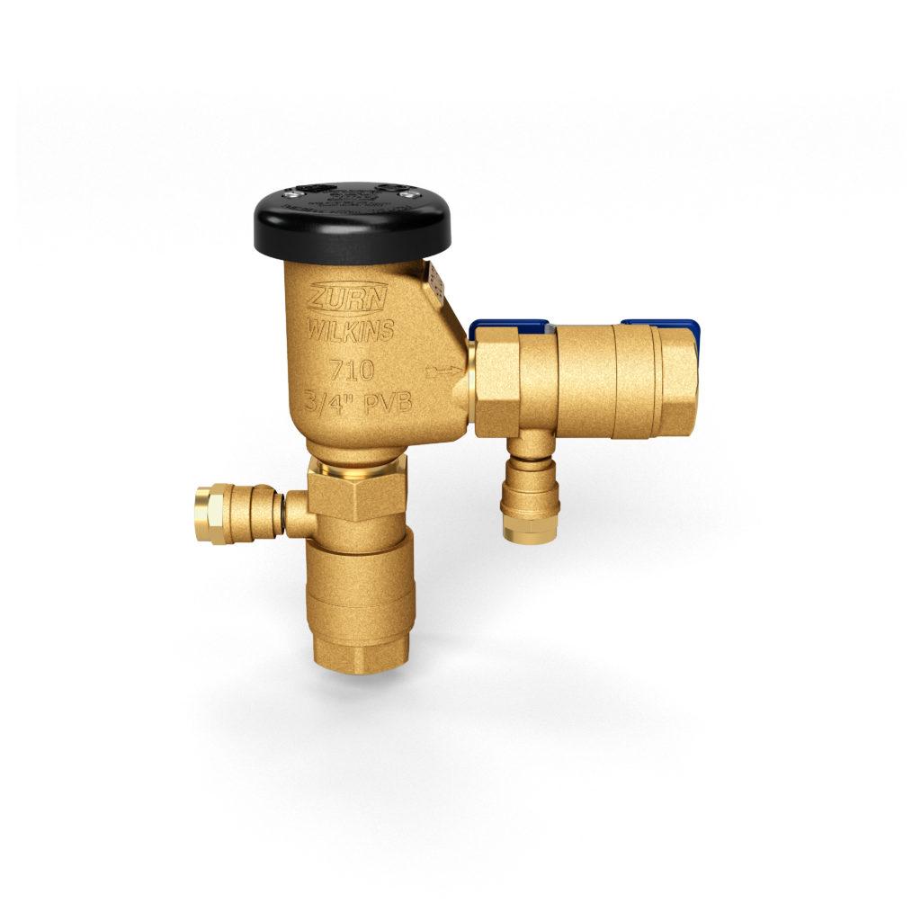 3D image of golden faucet