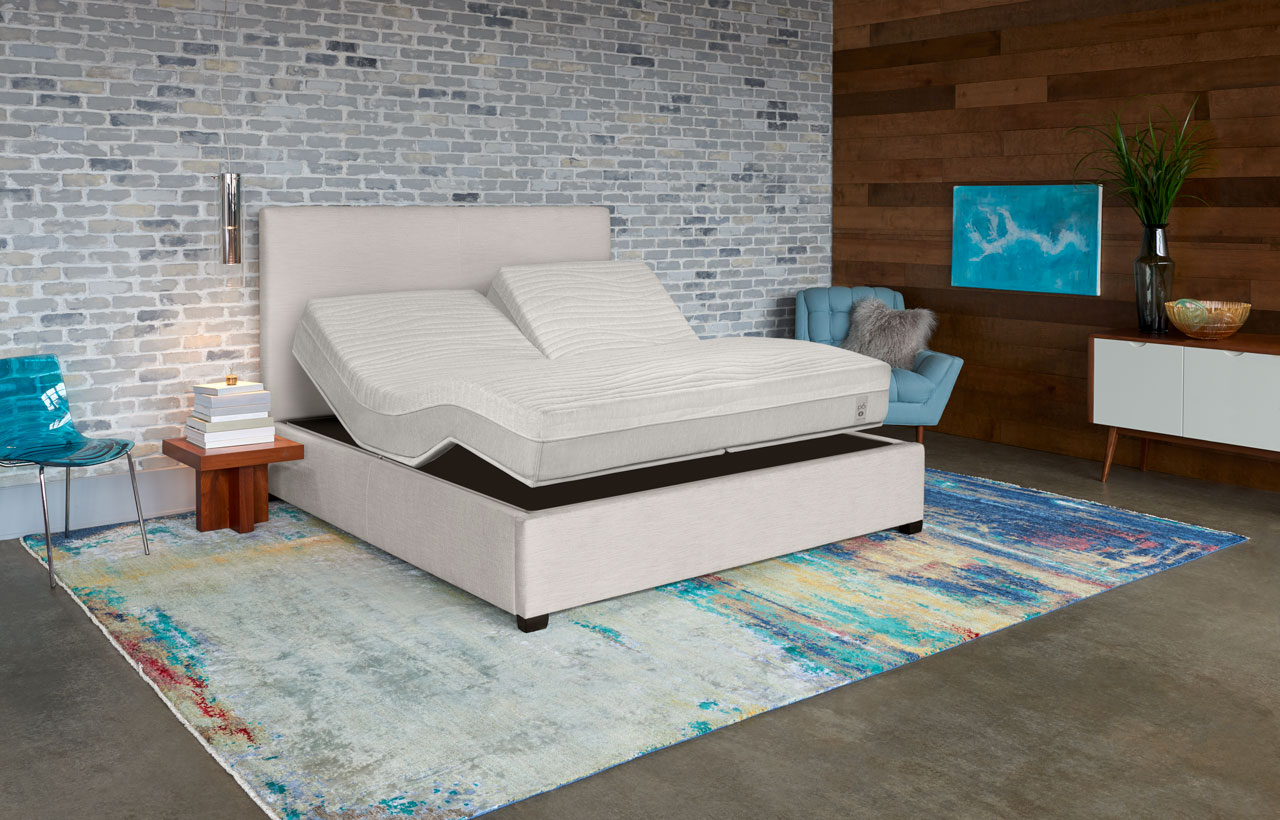 Flexible Sleep Number smart bed p6 mattress in modern room