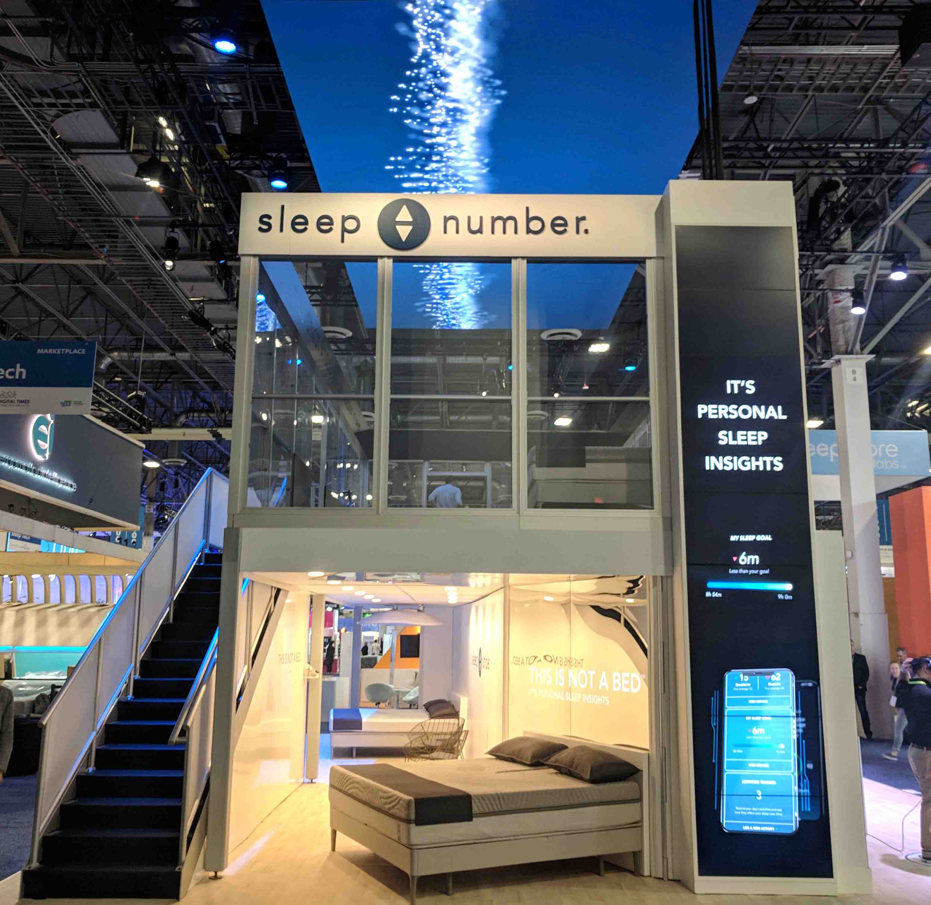 Two-story visual experience trade show exhibit at CES 2019