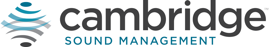 Cambridge Sound Management Logo for trade show graphics project