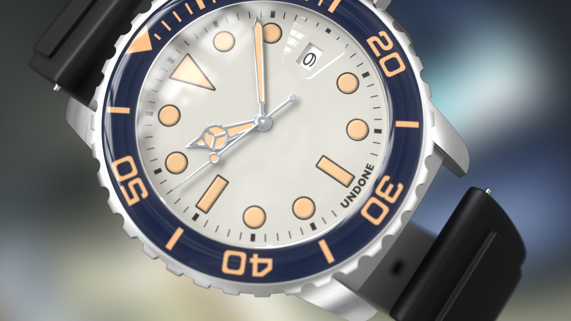 White watch bezel from product animation clip