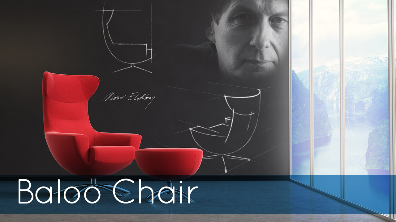 Fjords Baloo Chair Image with Red Chair