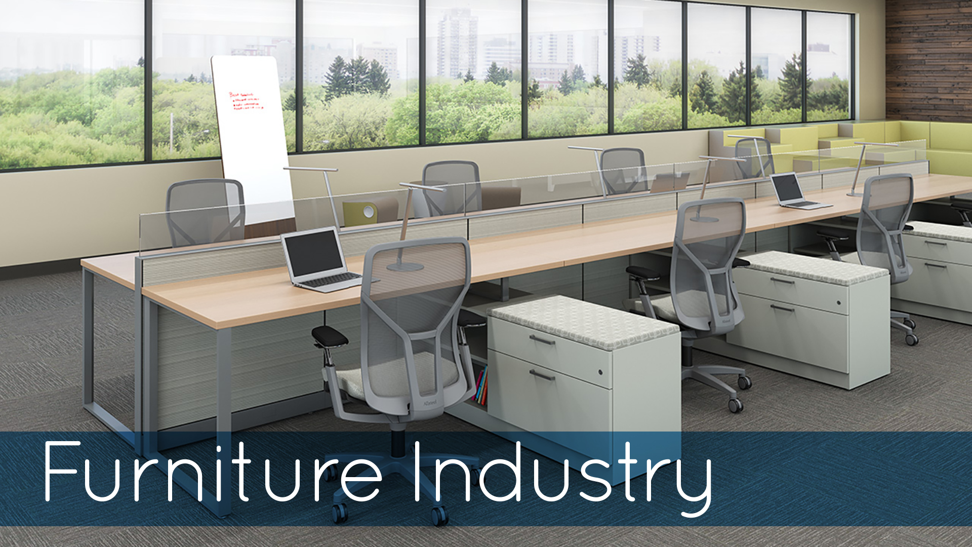 Furniture Industry Image with Chairs at Desk