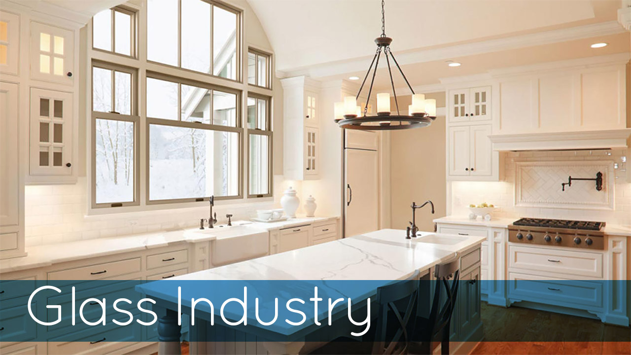 Glass Industry Cover Image of White Kitchen
