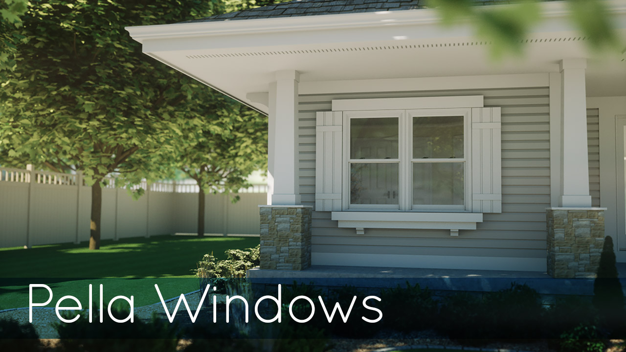 Pella Windows Image showing Side of Home