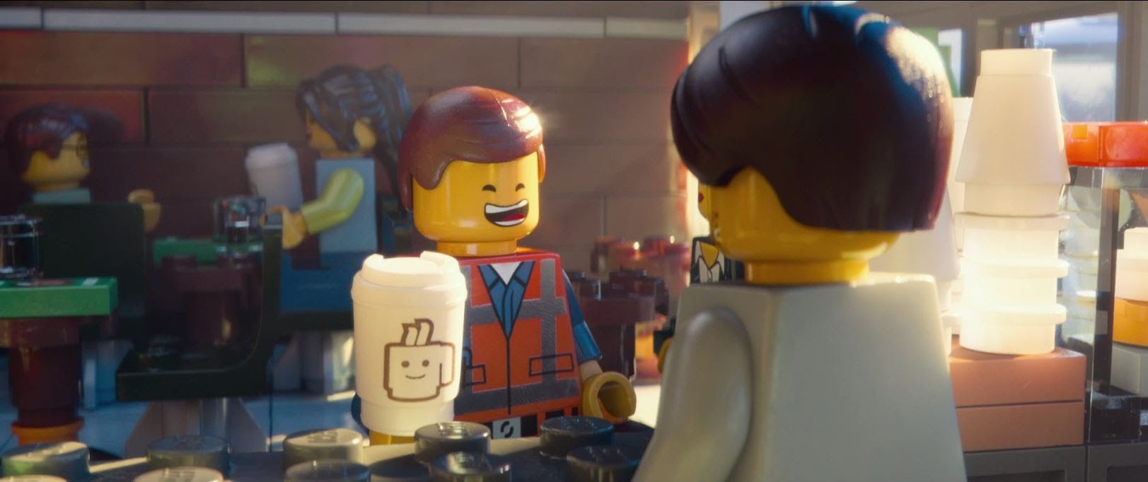 Lego Movie Screenshot with light coming in from right side