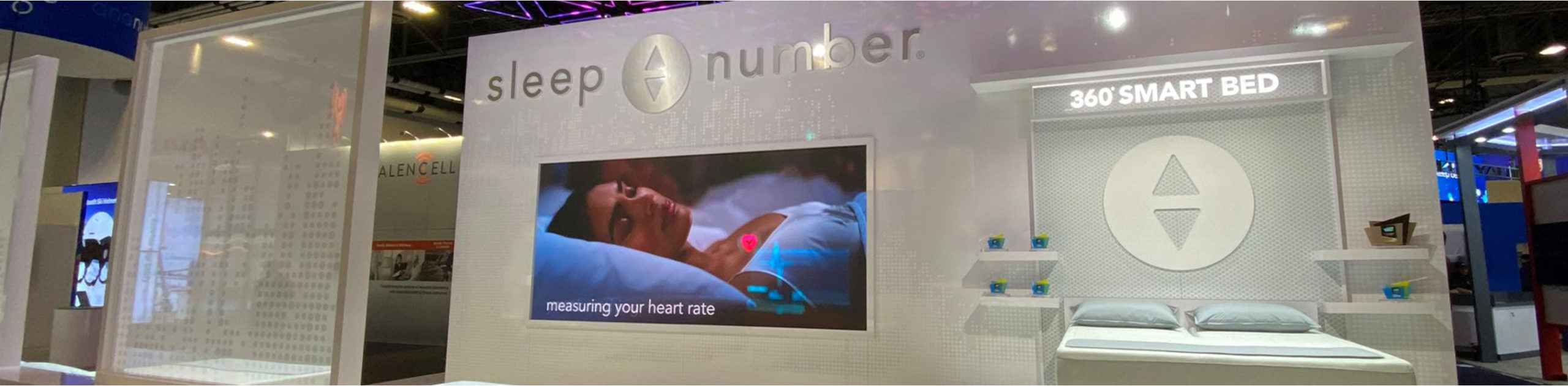 sleep number bed at CES booth 2020