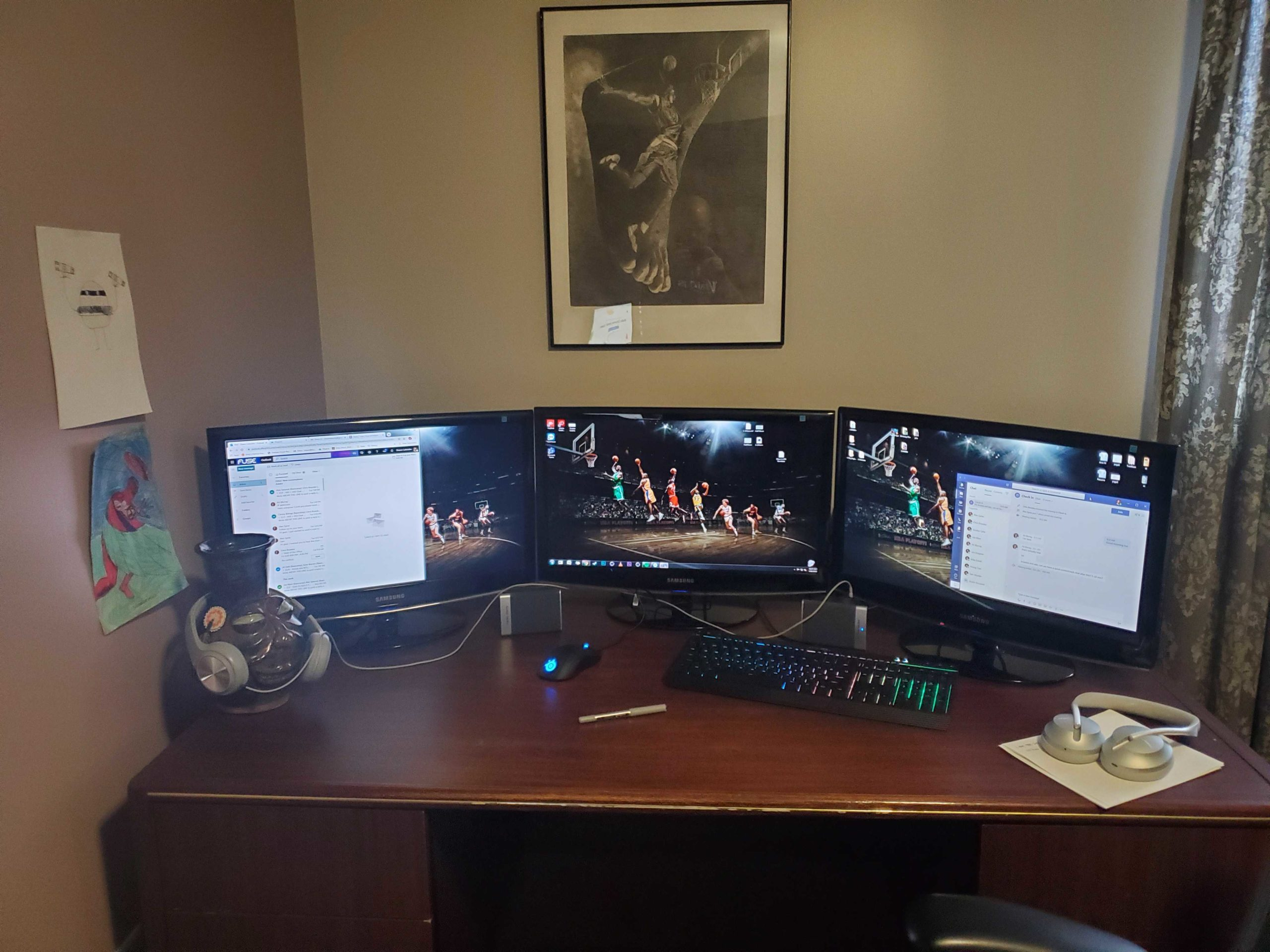 picture of shawn's work from home station