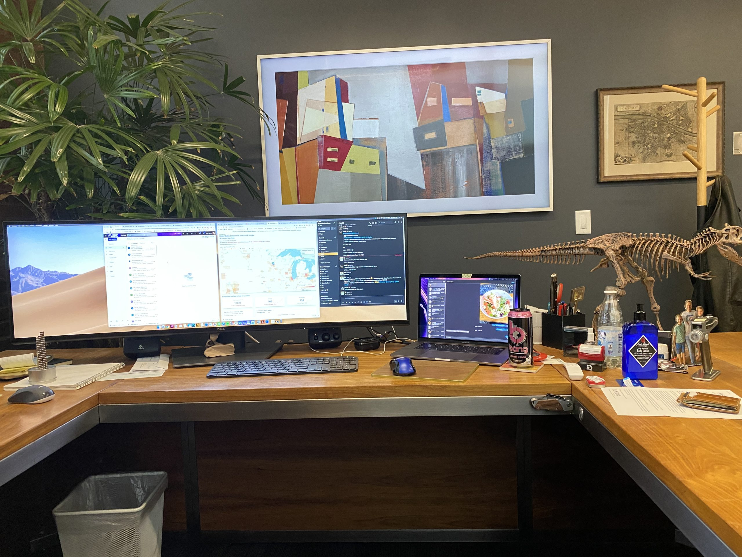 alec's 'working from home' station